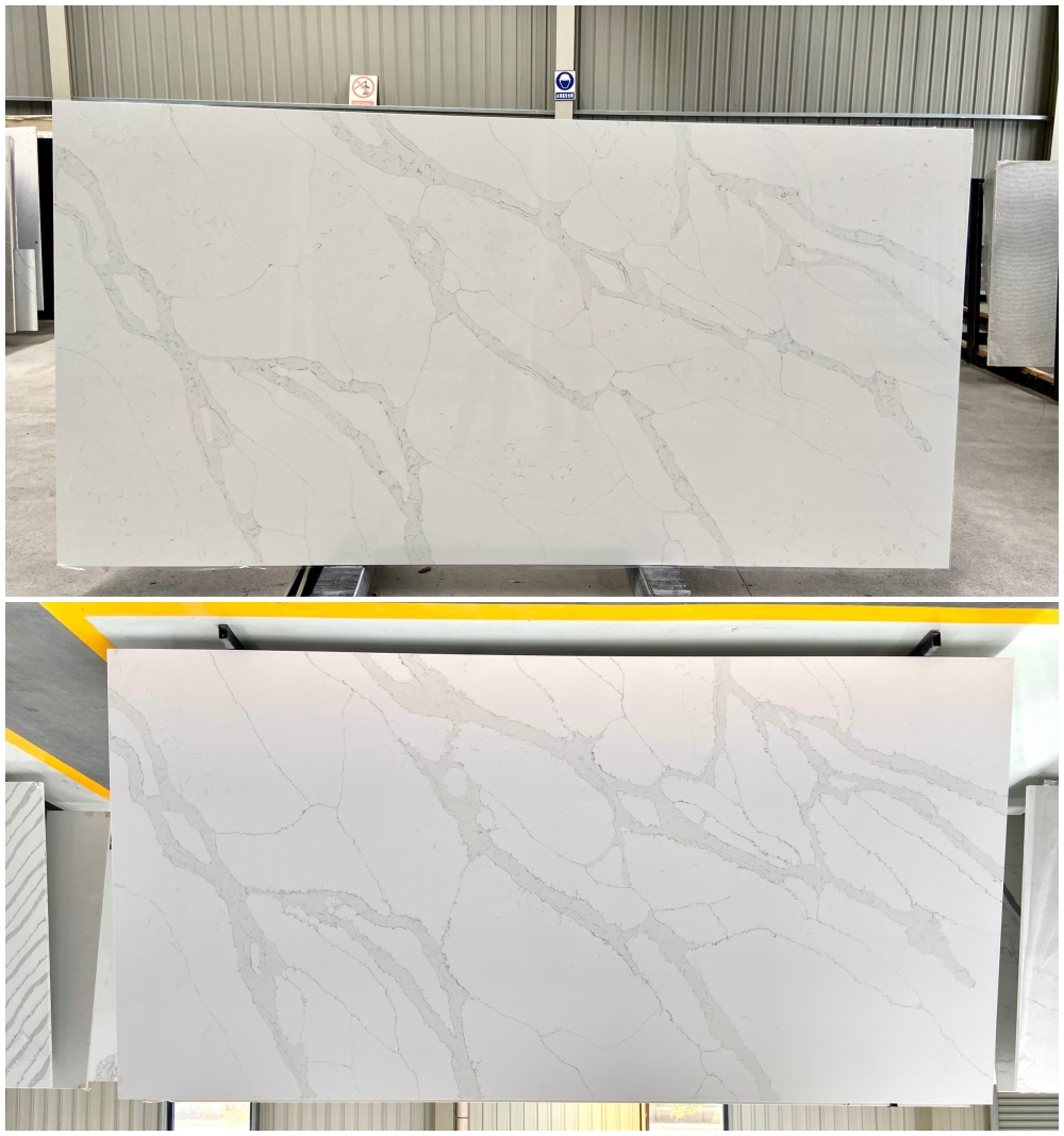 calacatta quartz slab golden calacatta