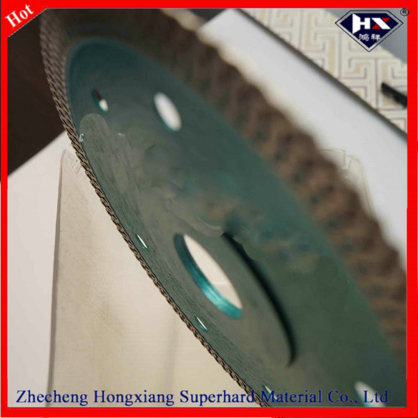 X turbo super thin hot press diamond blade for granie and marble