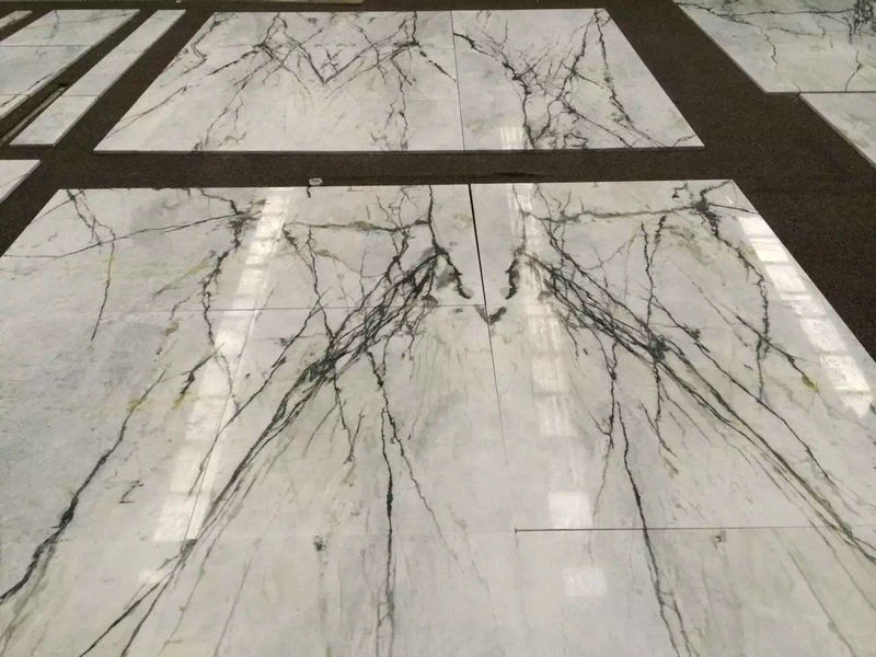 Bianco Damasco White Marble Tiles