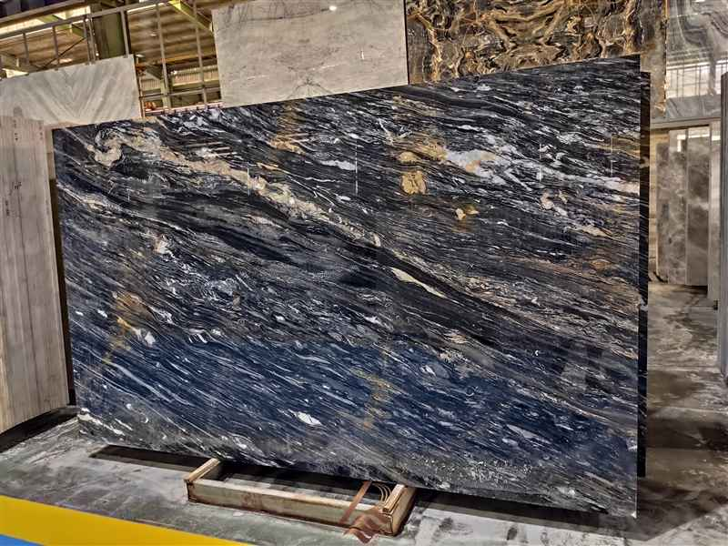 black Agatha crystal slabs