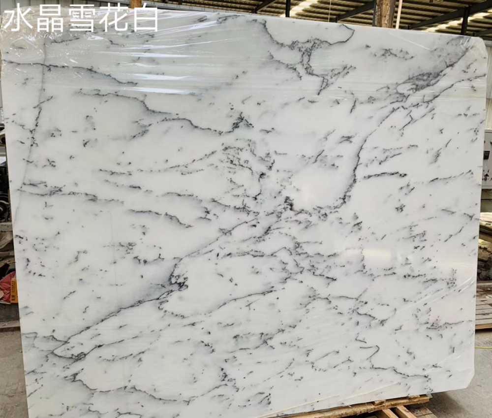 Crystal Snow White Marble Slabs China snow white marble tiles blocks are available