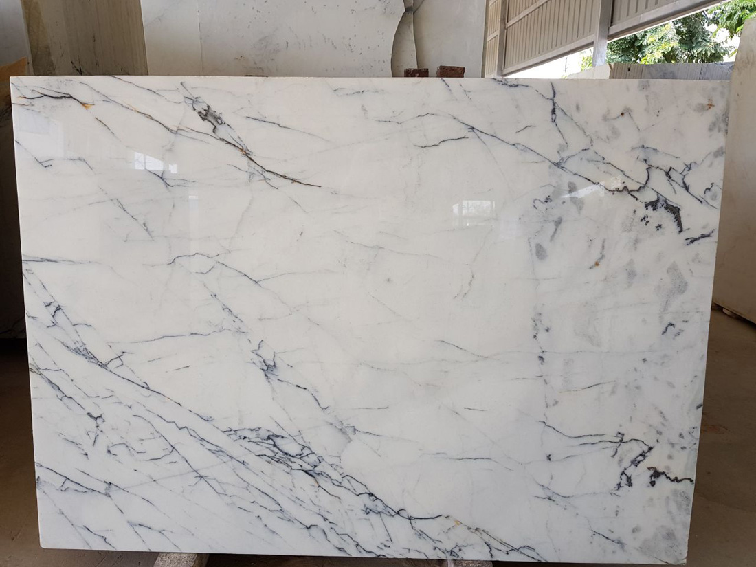 Indian Statuario White Marble Polished Marble Stone Slabs
