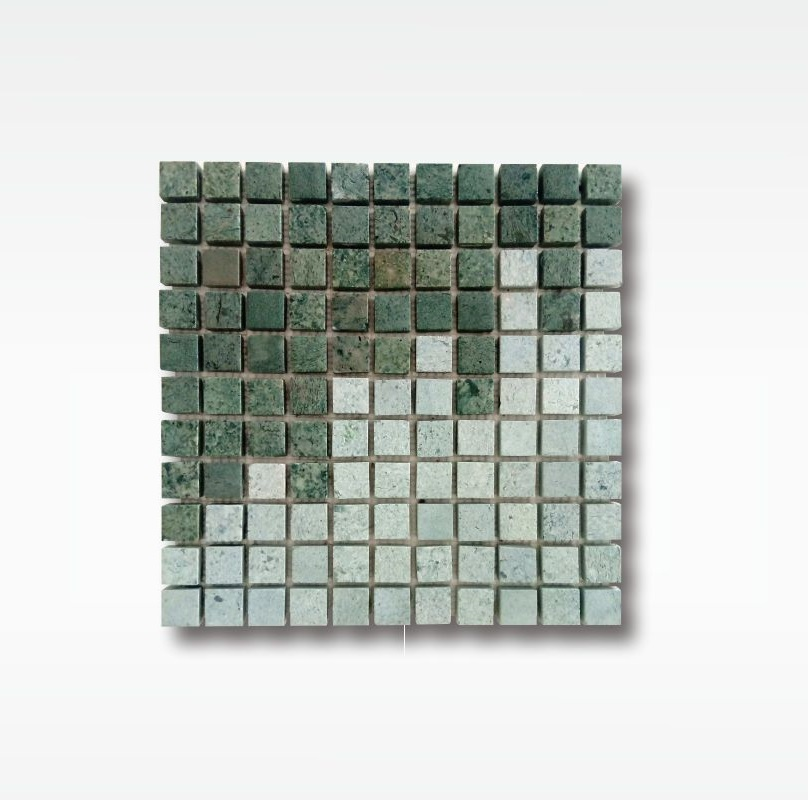 Mosaic Green Sukabumi Stone Pool Tile - Quartzite - 2 5x2 5cm - Wet