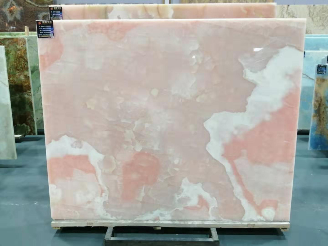 Natural Pink Onyx Stone For Background