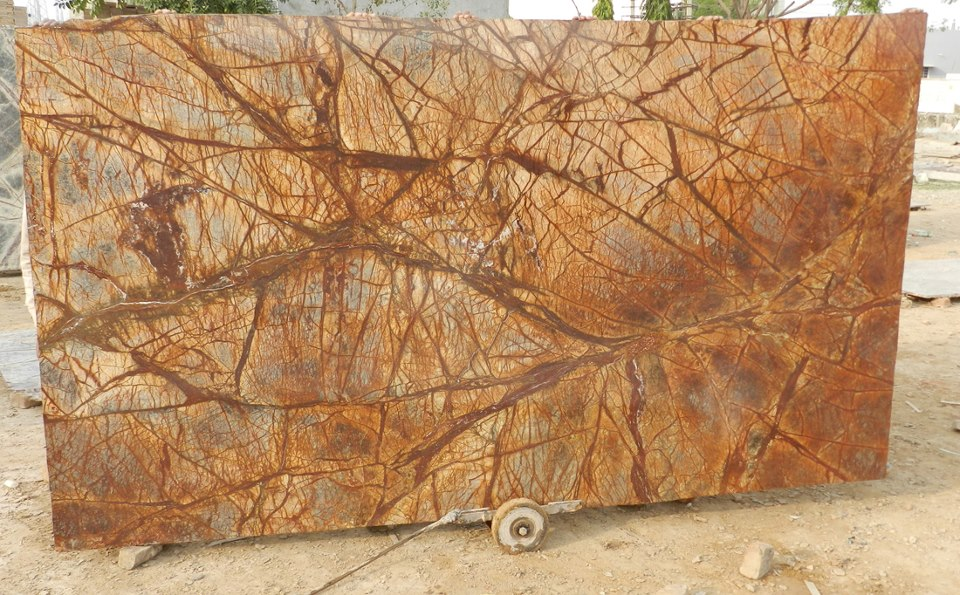 Rainforest Brown Marble Indian Brown Marble Stone Slabs
