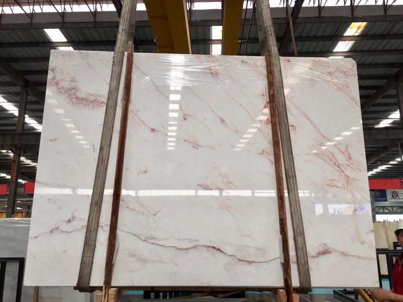 Crystal Red Onyx Slab light transmission