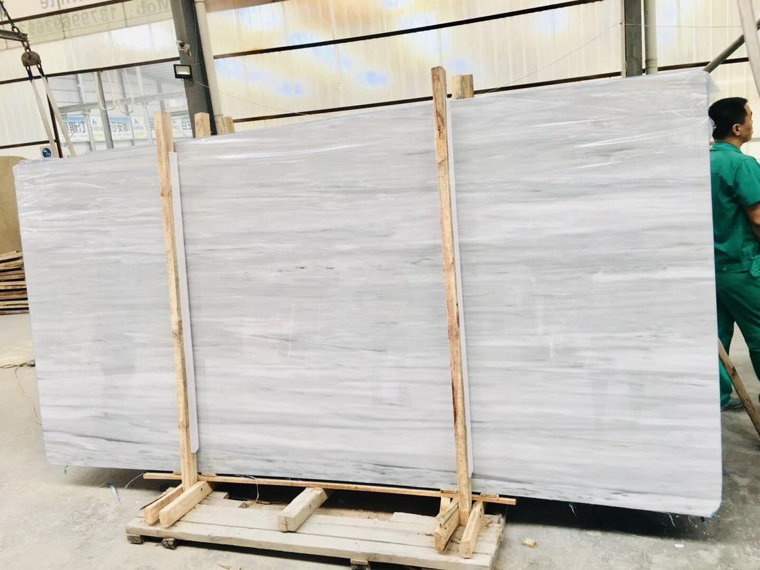 Palisandro White Polished Marble Slabs