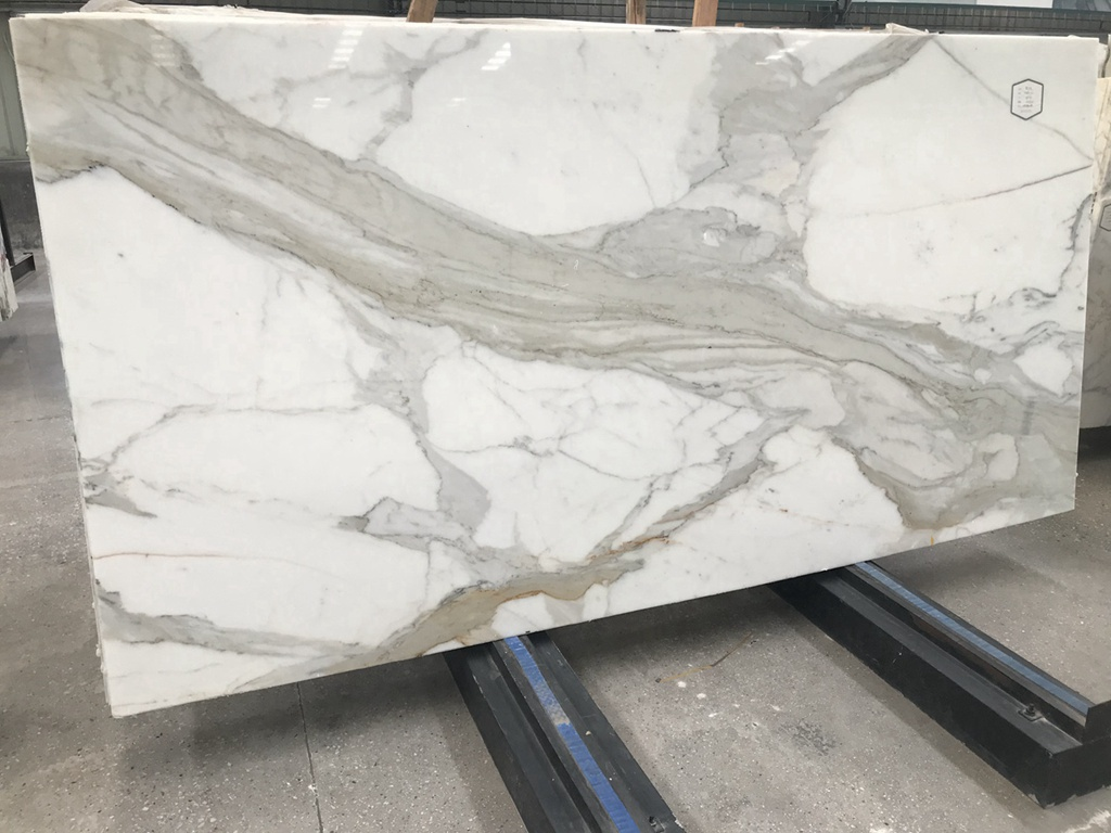Polish White Calacatta Marble Slab  Current Book Match Calacutta Slabs