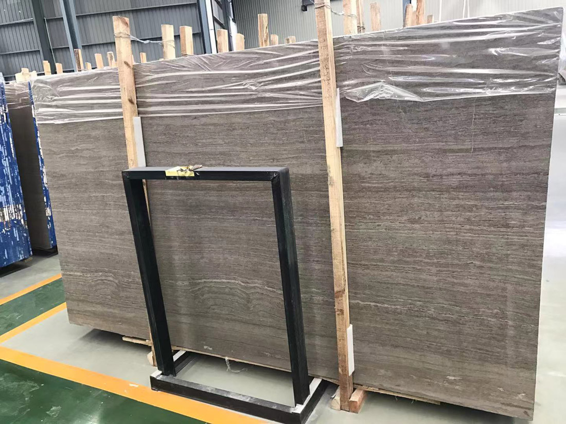 Coffee Wooden Marble Big Slab