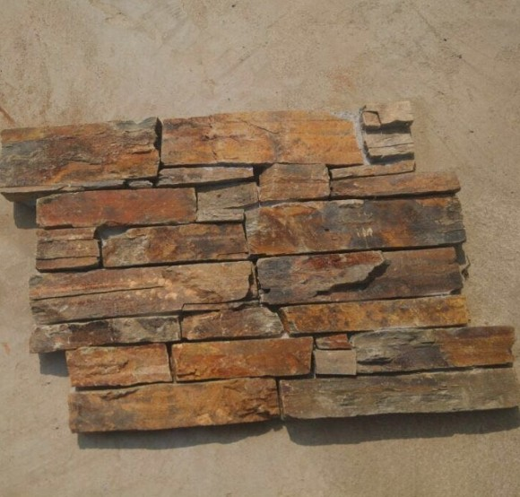 Cement Cultured Stone Rusty Slate Decorative Stone for Walls Rough Surface Hebei Stone Factory China