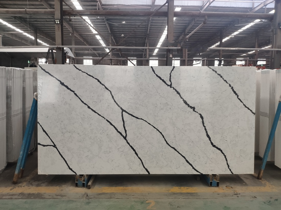 marble look quartz stone slab