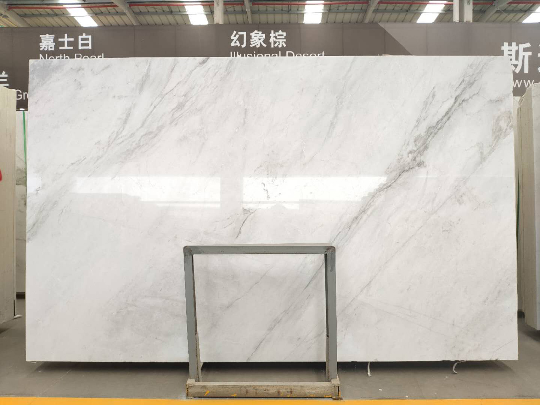 North Pearl White Marble Grey Veins Quarry Owner