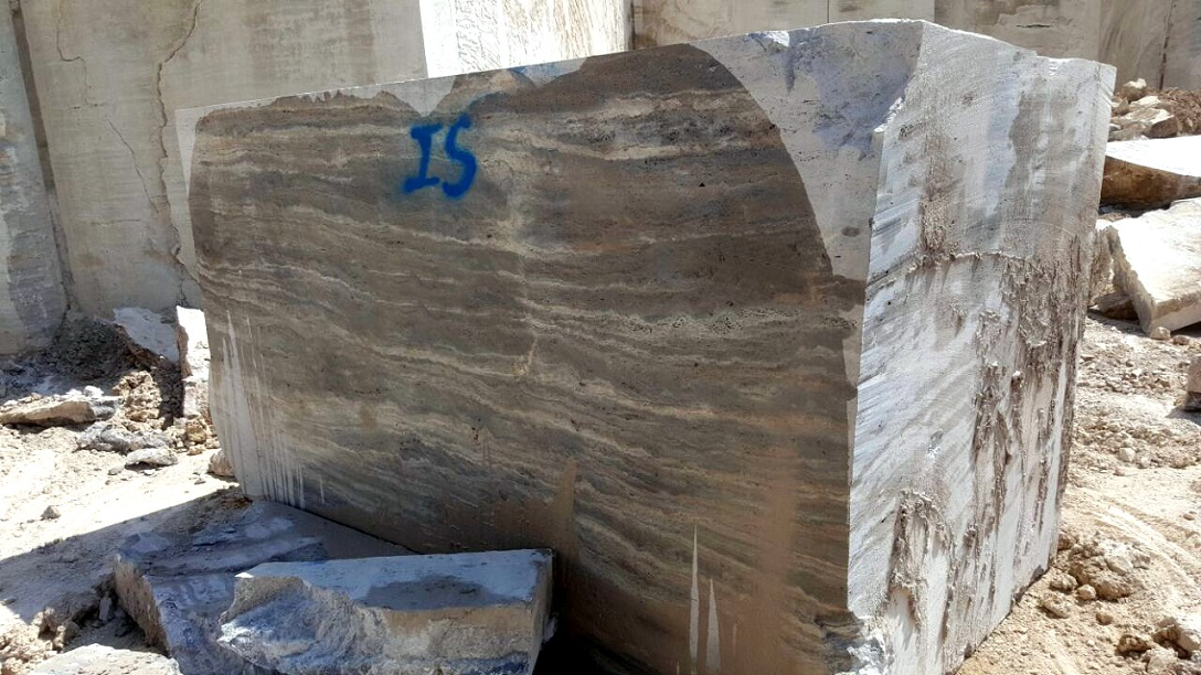 Silver Travertine Blocks