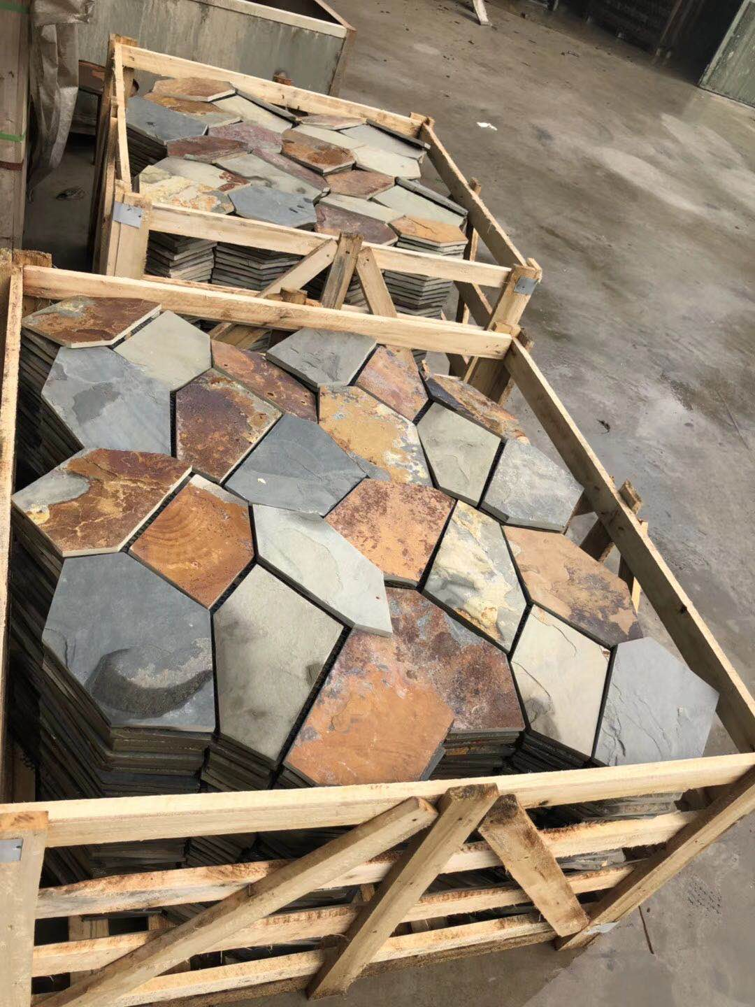 Rusty Slate Paving Slate paver tiles