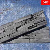 Black slate stacked culture wall stone