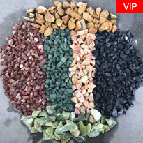 Multicolor making machine natural pebble stone price