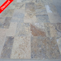 Scabas Travertine Pattern Set Chiseled Edge