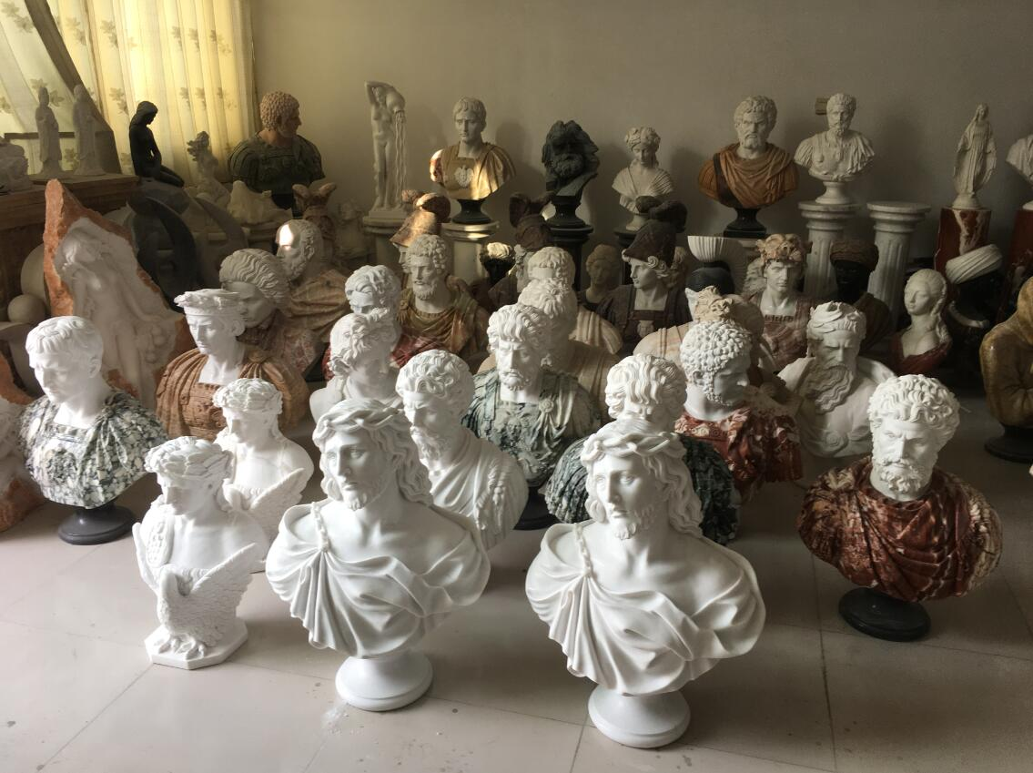 Marble bust statues in stock