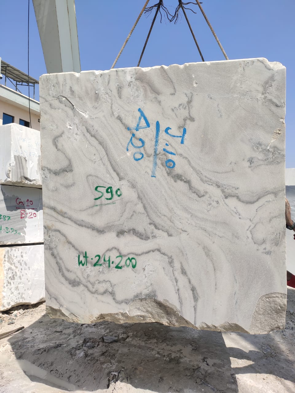 Bruno White Marble Blocks