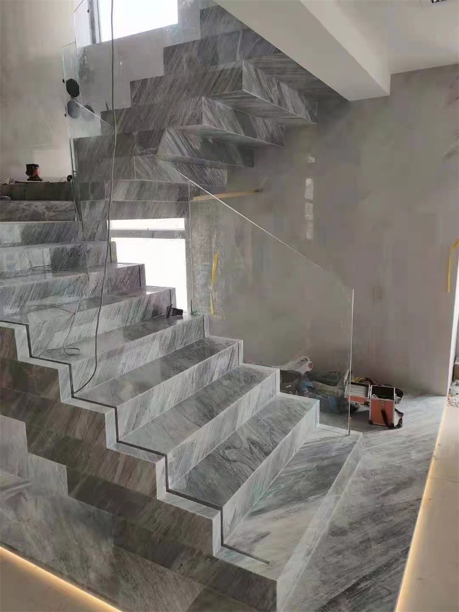 Snow Grey Marble Stairs China